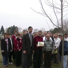 Judy Goldsmith's tree dedication ceremony