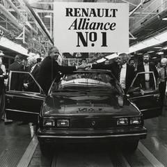 Renault Alliance on the assembly line