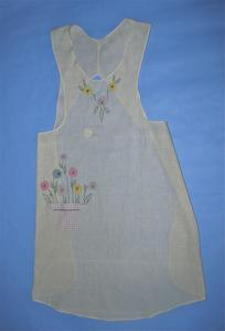 Scoop neck full-length cotton apron