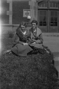 Female students on grass