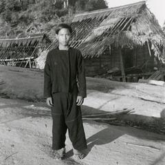 A young man in a Black Lahu (Lahu Na)village in Houa Khong Province