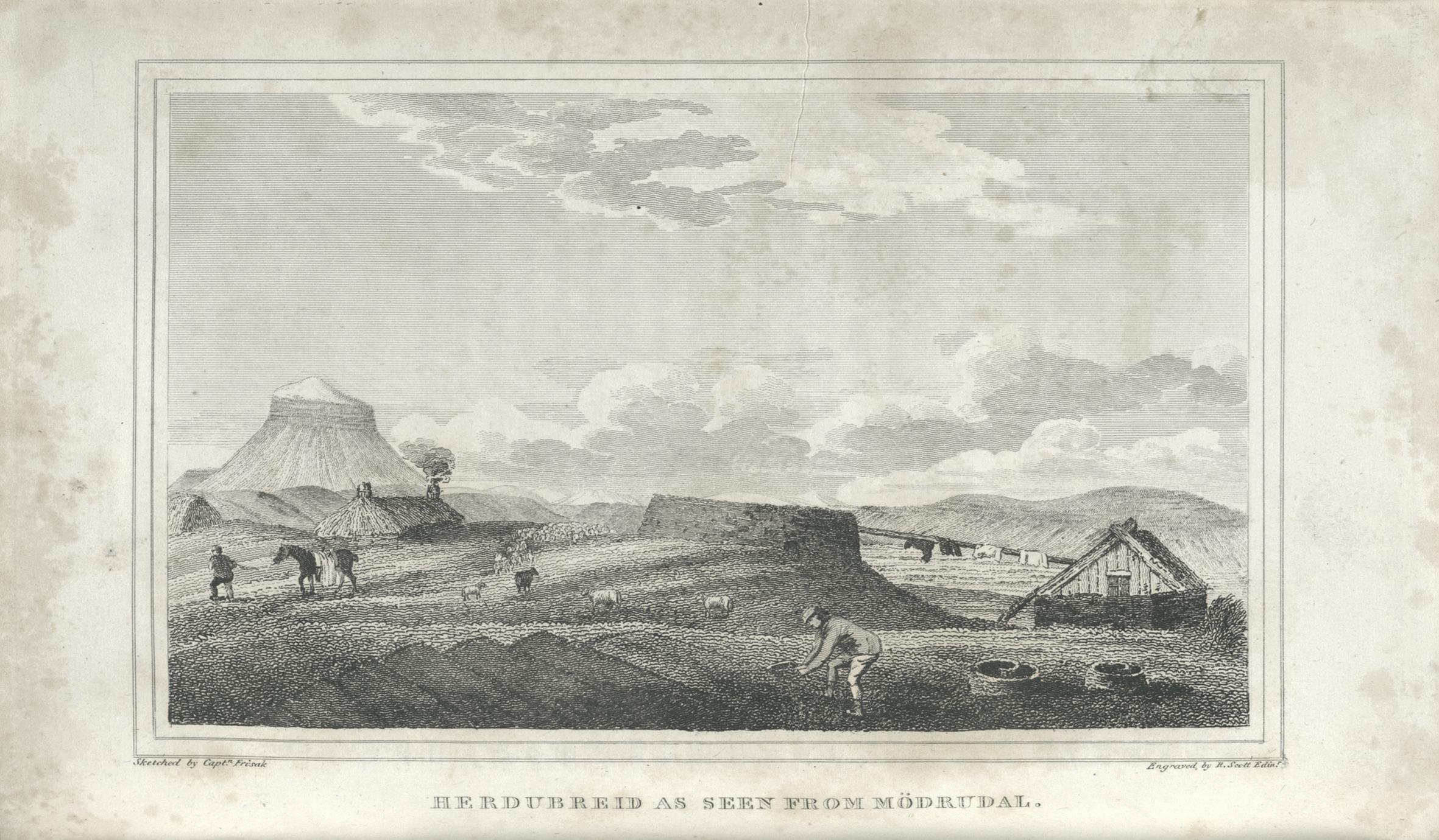 Herdubreid as seen from Mödrudal.