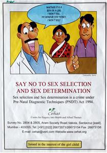 Say no to sex selection and sex determination