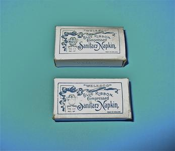Blue Ribbon compressed sanitary napkins