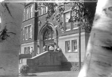 Old Main entrance during the 1960s