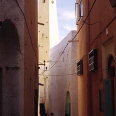 Inner Walls and Mosque in City of Ghardaia
