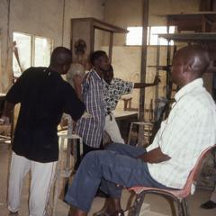 Students in art studio