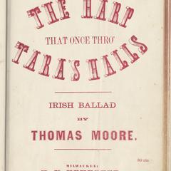 Harp that once thro' Tara's halls