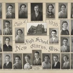1935 New Glarus High School graduating class