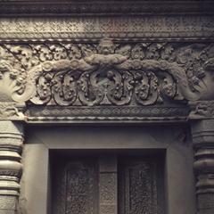 Prah Ko : close-up of lintel and false door
