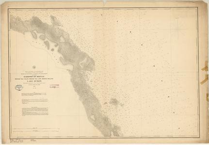 Harbors of Refuge Presqu'Ile [Presque Isle], False Presqu'Ile and Middle Island. Lake Huron