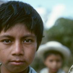 Local boy, along road, near El Progreso