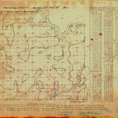 [Public Land Survey System map: Wisconsin Township 33 North, Range 21 East]