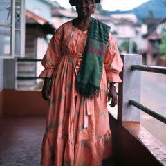 Modeling Typical Dress of Krio Women, Freetown