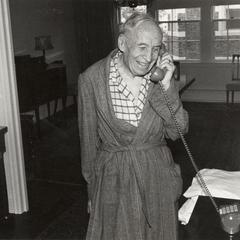 John H. Van Vleck taking Nobel Prize call
