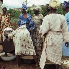 Women Organization preparing gari