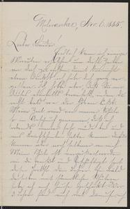 [Letter from Julie Sternberger to her brother Karl Sternberger, November 6,1885]
