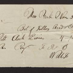 Bill, 1821