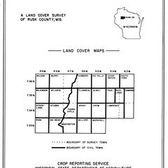 Rusk County, Wisconsin, land cover maps