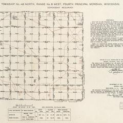[Public Land Survey System map: Wisconsin Township 48 North, Range 06 West]