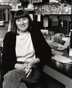 Marsha Betley in her lab