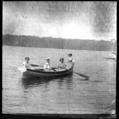 Plum Lake 4 girls in a boat
