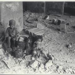 Child victims after bombings, Manila, 1945