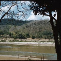 Mekong River from road in winter