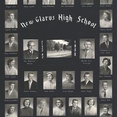 1958 New Glarus High School graduating class