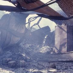 Fire at refugee center