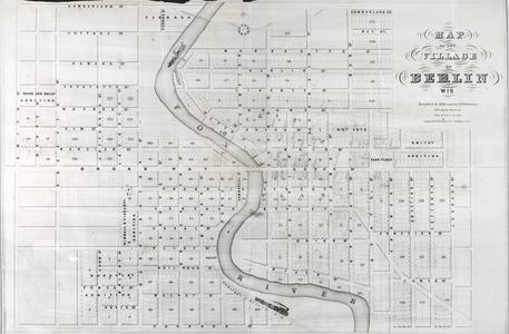Map of the Village of Berlin, Wisconsin