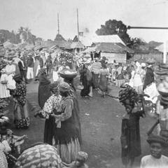 Market Scene on Krootown Road, Freetown, Circa 1890