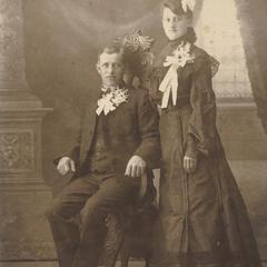 Jacob Frick and Amalia Tschudy Frick wedding portrait