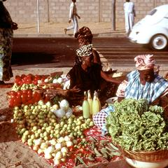Vegetables Sold at the Beach of Soumbedioune