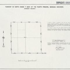 [Public Land Survey System map: Wisconsin Township 39 North, Range 07 West]