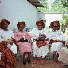Women attending the Ifaturoti wedding