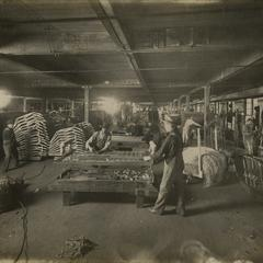 Simmons factory employees at work