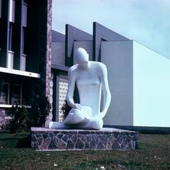Front View of Sculpture on University of Kinshasa Campus