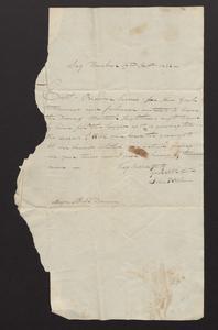 Letter from John P. Osborn to Major Felix Dominy, 1832