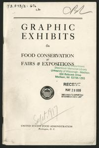 Graphic exhibits on food conservation at fairs & expositions