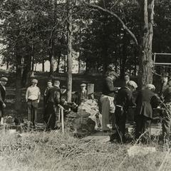 Men on a hunting trip