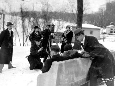 Filming the Varsity or Prom Movie, 1927