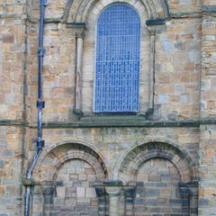 Durham Cathedral arcade window and blind arcade on north side of nave