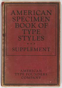 American specimen book of type styles : Supplement