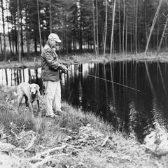 Arthur MacArthur trout fishing