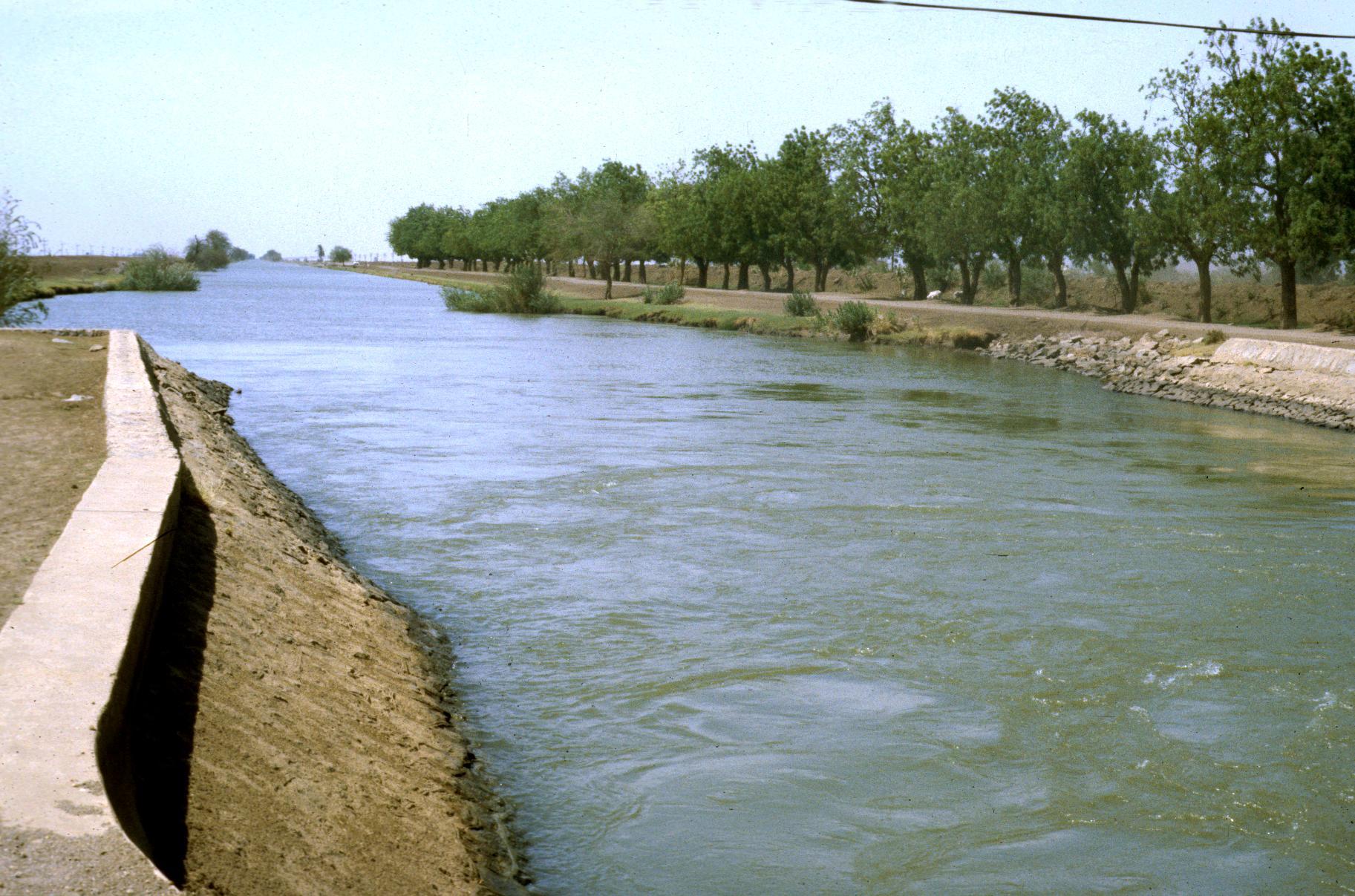Irrigation Canal of Desert Development Project in the Gezira