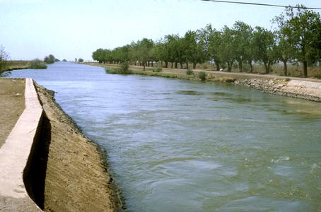 Irrigation Canal of Desert Development Project in the Gezira