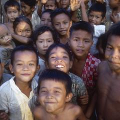 Smiling Lao children