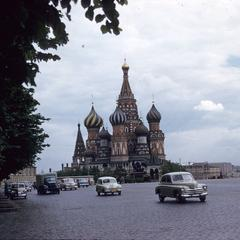 St. Basil's Cathedral and cars