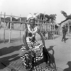 Kuba-Ngongo Chief Kalala with His Finery